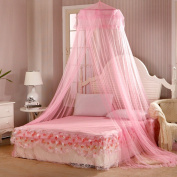 Bluelans® Pink Mosquito Net Princess Bed Canopy Polyester, Fly Insect Protection, 60cm x 280cm x 850cm