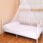 White Round Hoop Mosquito Net Portable Bed Canopy Insect Protect Foldable Tent