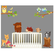 Wall Tattoo Wall Sticker Lion Giraffe Jungle Forest Owl / Squirrel Tree Children's Room Wall Sticker for Nursery Bedroom and QT163