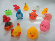 Vulna£¨TM£© 13Pcs Lovely Soft Rubber Float Sqeeze Sound Baby Wash Bath Toys Play Animals Toys