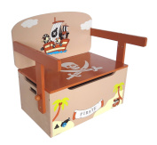 Bebe Style Children's Pirate Wooden Convertible Toy Box + Bench + Table
