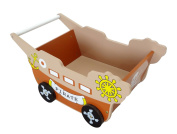 Bebe Style Children's Pirate Ship Trolley Walker Toy Box Push Along