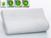 Viscoelastic Pillow / Neck Pillow / Pillow From Visco 50cm X 30cm Or 60cm X15.190cm Cervical Pillow Low - Cotone, 60cm X15.190cm