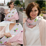 "Mania Breastfeeding scarf ""Tukan"" with small pocket for nursing pads in size L/XL"