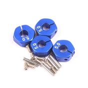 isremi(TM) BS#S 4pcs Stainless Steel Wheel Hex Hubs Drive for 1:10 Model RC Cars Blue