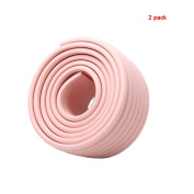 Andyshi Baby Childproof Furniture Safety Protective Corner Edge Protector W-shaped Corner Bumper Strip(2 pack) Pink