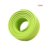 Andyshi Baby Childproof Furniture Safety Protective Corner Edge Protector W-shaped Corner Bumper Strip(2 pack) Green