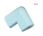 Andyshi Baby Anti-collision U shaped Furniture Safety Corner Guards Corner Bumpers(20 pcs) Blue