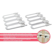 Freshlove Child Safety Protection Series U-shaped Cabinet Lock,Baby Safety Lock-8 Pack