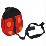 Demarkt Anti-Lost Backpack Baby Anti-Lost Band Be Turned Baby Backpack Ladybug Backpack