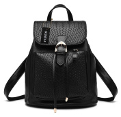 Tibes Fashion PU Leather Mini Backpack for Women/Girls