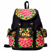 Casual New Embroidered Travel School Book canvas Bag Shoulder Rucksack Backpack