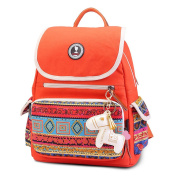 Keshi Canvas Cute College School Laptop Backpack -Straps Reinforced