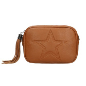 Chicca Borse Woman Clutch in Genuine Leather Made in Italy 21x15x7 Cm