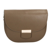 Chicca Borse Woman Clutch in Genuine Leather Made in Italy with Shoulder Strap 22x17x6 Cm