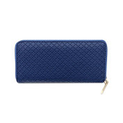 New Multi-functional Women's Ladies Clutch Coin Purse PU Leather Classic Zipper Wallet Chequered Texture Phone Case Bags Evening Prom Bags Blue