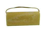 XPGG Women Shoulder clutch Bags Feather pattern Evening Bag for Flashing appearance Party Bag 024