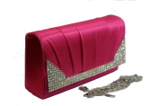 rose pink quilted wedding party prom clutch by koko