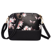 Healthy Clubs Women's PU Leather Flowers Butterfly Printing Shoulder Bag
