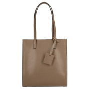 Chicca Borse Woman Large Shoulder Bag with Handles in Genuine Leather Made in Italy 30x32x12 Cm
