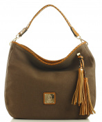 Noble Mount 'Eternity' Canvas Hobo/Handbag - Cool Colours