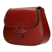Chicca Borse Woman Large Handbag Briefcase in Genuine Leather Made in Italy 36x25x9 Cm