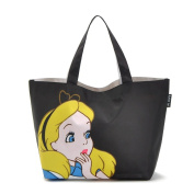Oath_song Women's Waterproof Alice In Wonderland Lunch Tote Bag Black Small Size