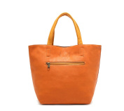 Oath_song Women's Faux Leather Handmade Pebbled Tote Bag Small Size