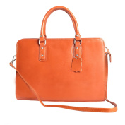 Briefcase in Italian Leather, Cartel, Woman Business HandBag Made in Italy 35x26x11 Cm