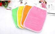 Haobase 2pcs Bath Exfoliating Gloves Shower Wash Skin Spa Massage Loofah Scrubber Kids Items Shower Tools for Kids