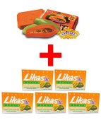5 x Likas Papaya Soap + 1 Bar Of Asantee Papaya & Honey + Q10 Soap