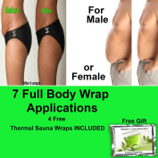 Inch-loss body wrap clay applicator 7 it works for ultimate firming toning slimming plus free turbo assistant colon cleaner