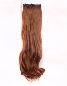 FLORATA Charming 60cm Long Curly 18 Clips 8 Piece Full Head Clip in Hair Extension