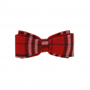 Zac's Alter Ego® Red Tartan Double Bow On Barrette
