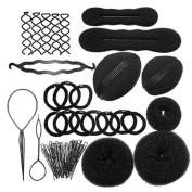 Yistu 1 Set Cool Universal Elastic Clamping Hairstyle Entrainment Tied Hair Weaving Hairstyle