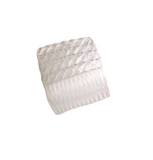 Mytoptrendz® Set of 4 Small Clear Plastic Side Hair Combs Slides Grips / Veil Hair Combs Wavy design edge border