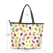 UHONEY Extra Large Handbags for Women,Colourful Friuts ,Fashion Design Ladies Shoulder Tote Bag