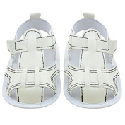isremi(TM) BS#S 0-18M Summer Baby Classic Soft Sole Shoes Boys Cotton Toddler Sandals Blue Jean and White Sandals