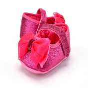 Autumn Infant Girls Bling Baby Shoes Hook+Loop Bow Soft Sole Toddler Shoes First Walking shoes (UK3