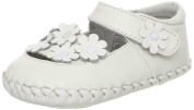 Little Blue Lamb Soft Leather Baby Sandals White Floral 18 - 24 Months