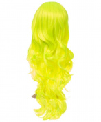 LONG CURLY WAVY 60cm BRIGHT NEON COLOURS PARTY HALLOWEEN FULL HEAD WIG 9326