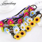 Haobase 3Pcs Hair Bands for Women Hair Accessories New Headbands Festival Scrunchyl Elastic Flower Hair Garland