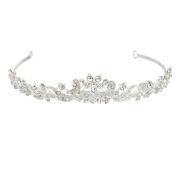 OULII Bridal Headpieces Wedding Tiara Rhinestone Crystal Headpiece