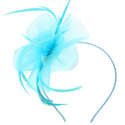 Discoball Elegant Flower Feather Headband Hat Fascinator Wedding Headwear Ladies Day Race Royal Ascot