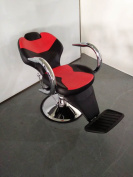 Barber Styling Tattoo Threading Beauty Hairdresse Hydraulic Recline Chair BX2668B, Red and Black