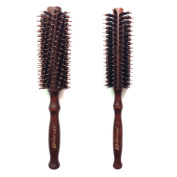 Kaiercat Natural Boar Bristles Hair Brush Pairs Round Curling Combs (Diameter 5.1cm +4.1cm ) For Short to Long Hair