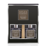 Baylis & Harding Black Pepper and Ginseng Luxury Diffuser Duo Set