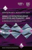 Annals of Entrepreneurship Education and Pedagogy