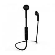 Pama Bluetooth 4.1 Headphones Headset Earbuds with Mic Controls Wireless Sports Gym Earphones - Black PNG275