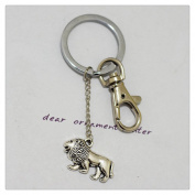 Lion Keychain - Silver Lion Charm Jewellery Keychain